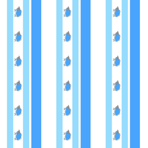 impossible sheep stripe blue