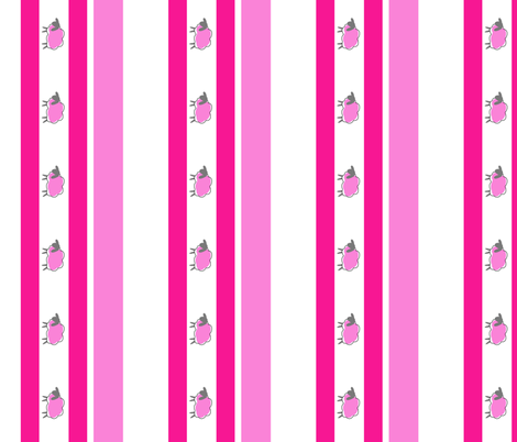 impossible sheep stripe pink fabric by mojiarts on Spoonflower - custom fabric