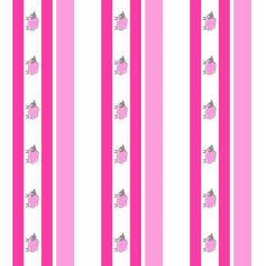 impossible sheep stripe pink