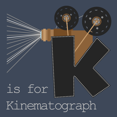 K is for Kinematograph fabric by phantomssiren on Spoonflower - custom fabric