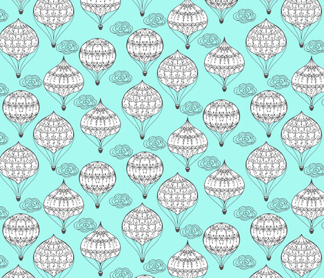 Here & There Balloons fabric by raebekah on Spoonflower - custom fabric