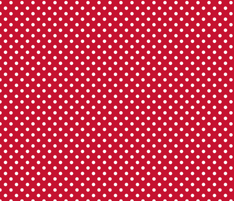 pois_blanc_fond_rouge_S fabric by nadja_petremand on Spoonflower - custom fabric