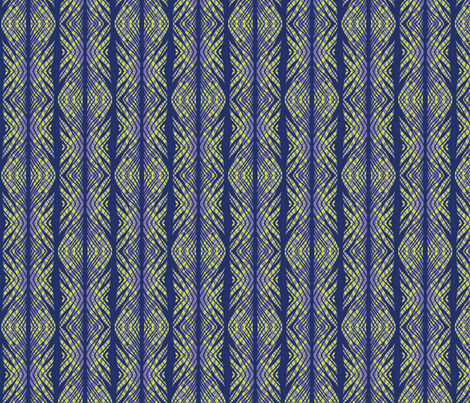 lacy tiger stripe coordinate peacock fabric by katarina on Spoonflower - custom fabric