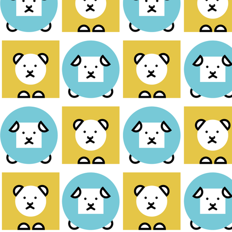 geometric LIONandLAMB fabric by zaira on Spoonflower - custom fabric