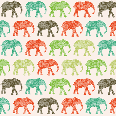 African elephants fabric by ebygomm on Spoonflower - custom fabric
