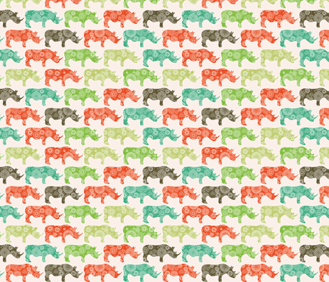 rhino fabric by ebygomm on Spoonflower - custom fabric