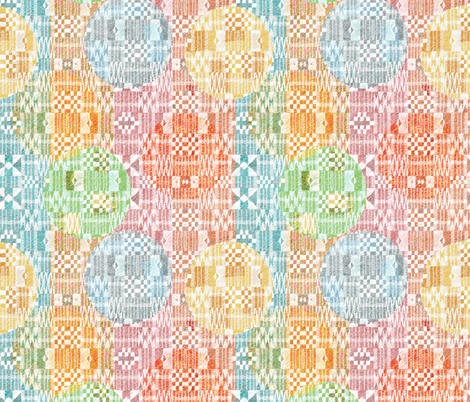 Kente with Dots small  fabric by vo_aka_virginiao on Spoonflower - custom fabric