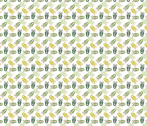 poupée_russe_twist_vert_fond_blanc_S fabric by nadja_petremand on Spoonflower - custom fabric