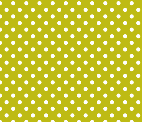 pois_blanc_fond_vert_M fabric by nadja_petremand on Spoonflower - custom fabric