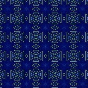 Green geometric on Navy © Gingezel 2014
