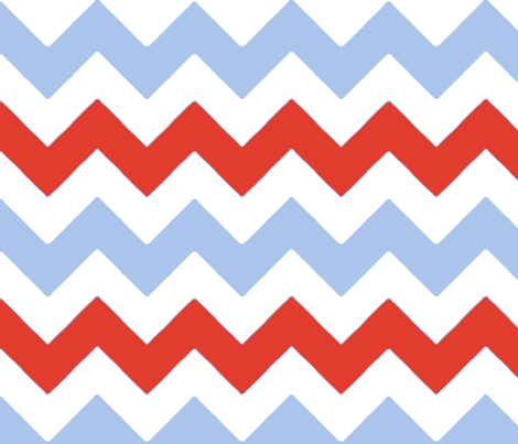 chevron_rouge_bleu_L fabric by nadja_petremand on Spoonflower - custom fabric