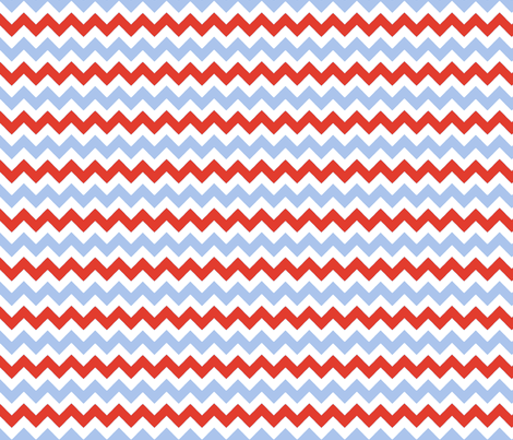 chevron_rouge_bleu_S fabric by nadja_petremand on Spoonflower - custom fabric