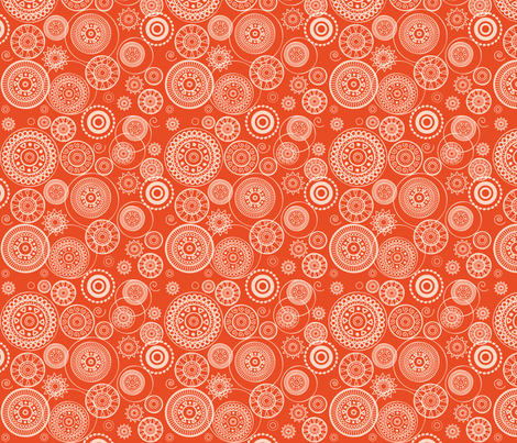 Orange Circles fabric by ebygomm on Spoonflower - custom fabric