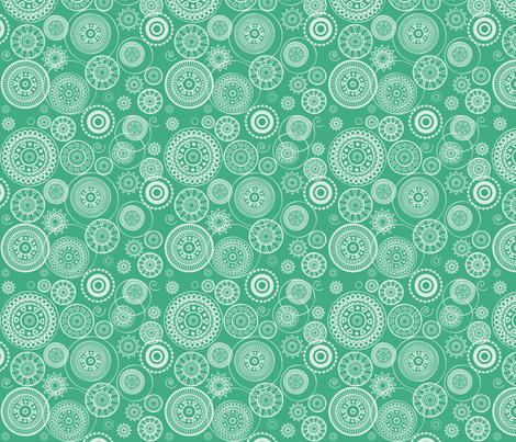 Blue circles fabric by ebygomm on Spoonflower - custom fabric