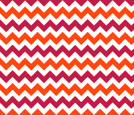 chevron_rouge_orange_M fabric by nadja_petremand on Spoonflower - custom fabric