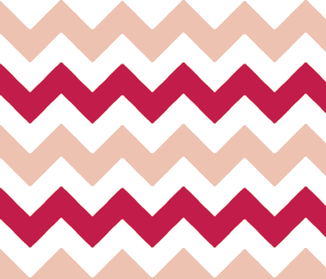 chevron_rose_rouge_L fabric by nadja_petremand on Spoonflower - custom fabric