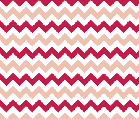 chevron_rose_rouge_M fabric by nadja_petremand on Spoonflower - custom fabric