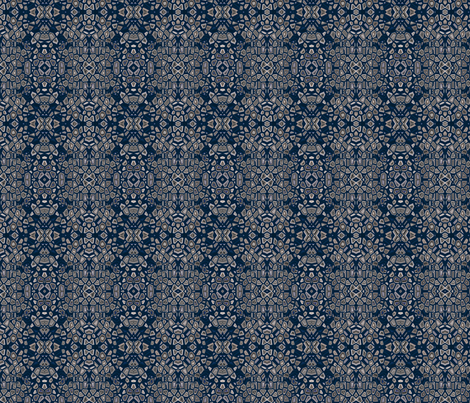Navy Mosaic © Gingezel™ 2013 fabric by gingezel on Spoonflower - custom fabric