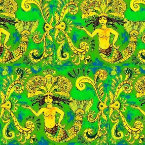 Grand Mermaids-yellow/green