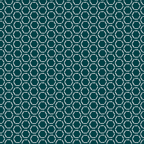 Turquoise Honeycomb Invert fabric by spikymammal on Spoonflower - custom fabric