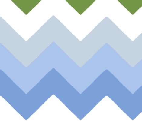 chevron_double_vert__bleu_L fabric by nadja_petremand on Spoonflower - custom fabric
