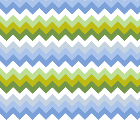 chevron_double_vert__bleu_S fabric by nadja_petremand on Spoonflower - custom fabric