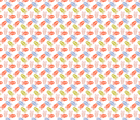 poupée_russe_twist_multico_S fabric by nadja_petremand on Spoonflower - custom fabric