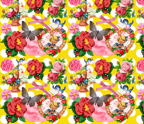 Summer Birds fabric by birdy_blue's on Spoonflower - custom fabric
