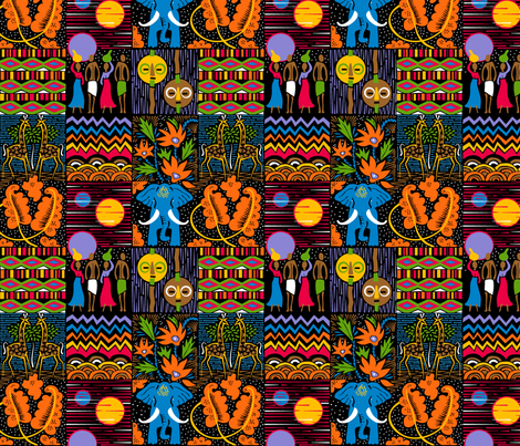 African Quilt fabric by dianne_annelli on Spoonflower - custom fabric