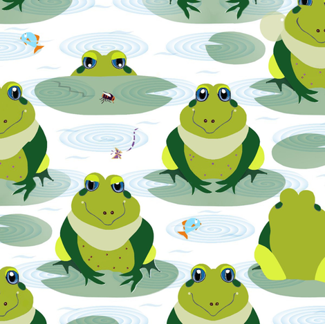 Frog pool fabric by alfabesi on Spoonflower - custom fabric