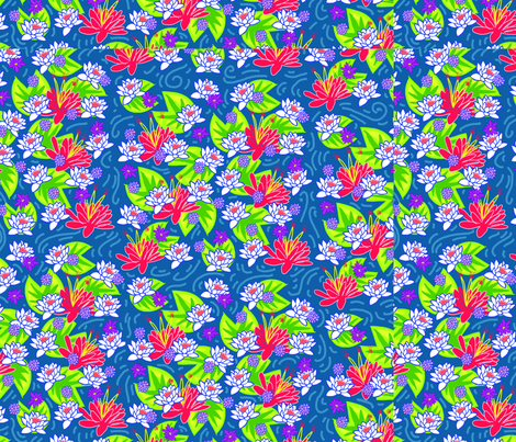 8x8LARGE-LILLY-PADS fabric by scopermonstar on Spoonflower - custom fabric