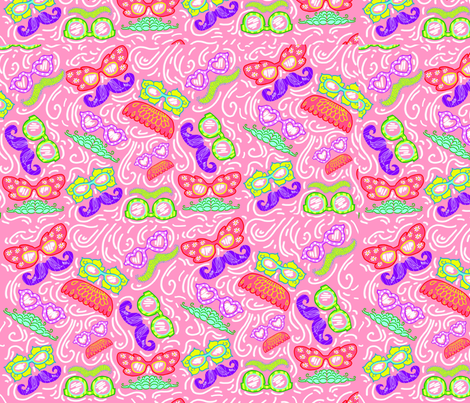 8x8GLASSES_MUSTACHES fabric by scopermonstar on Spoonflower - custom fabric