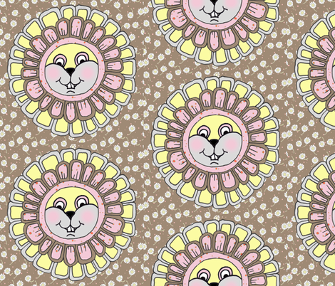 Henrietta Hamster Hugs and Kisses fabric by joojoostrees on Spoonflower - custom fabric