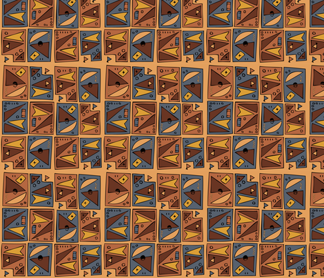Tiki 1B  fabric by cweinercampbell on Spoonflower - custom fabric