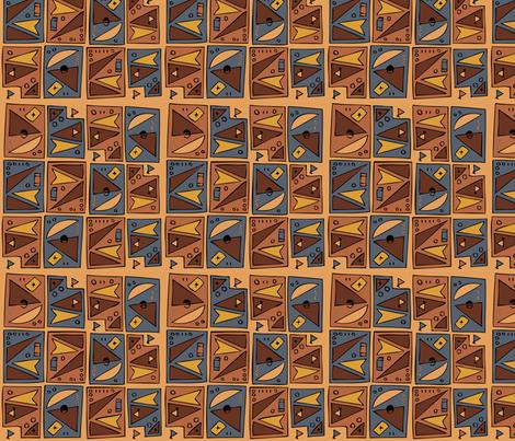Tiki 1B  fabric by cweinercampbell on Spoonflower - custom fabric