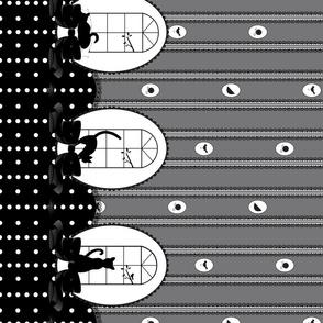 Black Cat Strut V2 - Graphite Gray with Black Lace