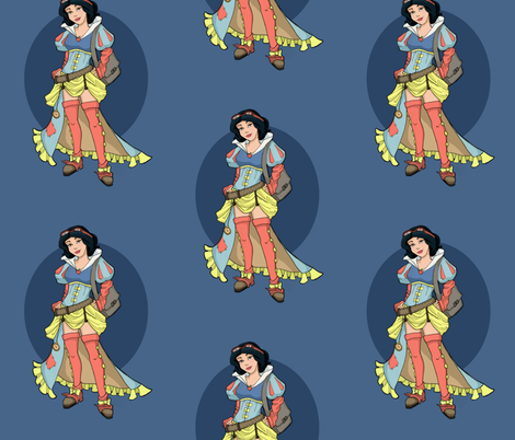 Steampunk Snow White fabric by karenhallionart on Spoonflower - custom fabric