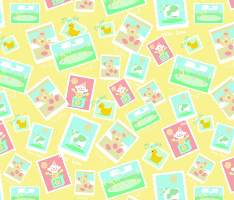 baby_stamps__repeat-ch fabric by mcuetara on Spoonflower - custom fabric