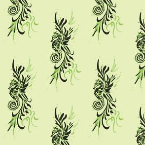 Seahorse10-green/black