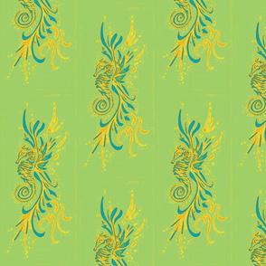 Seahorse10-green/blue