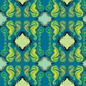 Seahorse13-green/teal