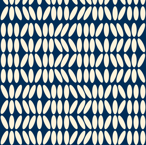 Kenya Blue and Creme fabric by demouse on Spoonflower - custom fabric