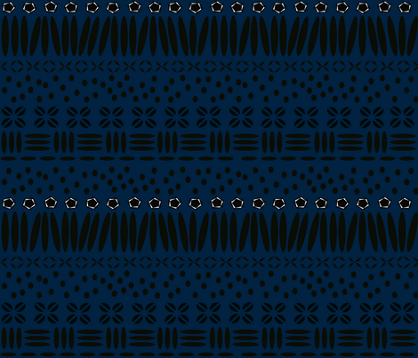 Kenya Star Blue fabric by demouse on Spoonflower - custom fabric