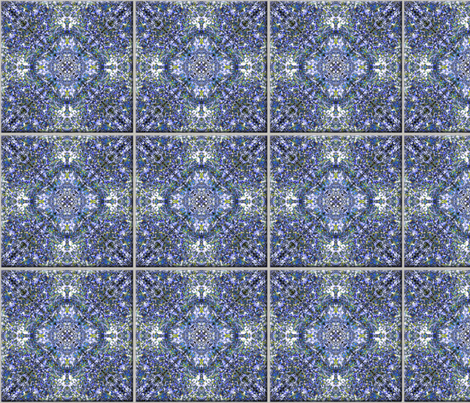 """Blue Chintz Tile"" Decal"