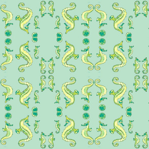 Seahorse5-green mirror