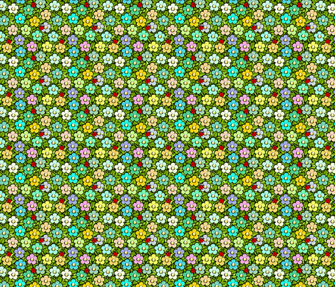 happy_garden fabric by glimmericks on Spoonflower - custom fabric