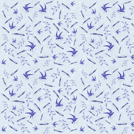 Terns and Petrels fabric by ravynscache on Spoonflower - custom fabric