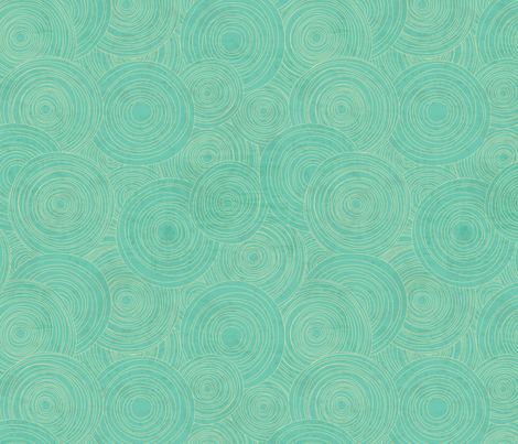 Ghanaian Blooms - dirt devils (aqua) fabric by jennartdesigns on Spoonflower - custom fabric