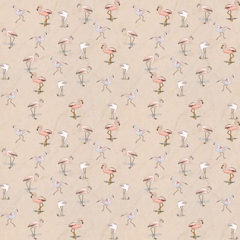 Flamingos fabric by ravynscache on Spoonflower - custom fabric