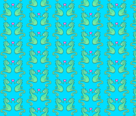 Seahorse fabric by jadegordon on Spoonflower - custom fabric